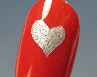 Toe nail / finger nail Heart decals / stickers / art pedicure Tattoo