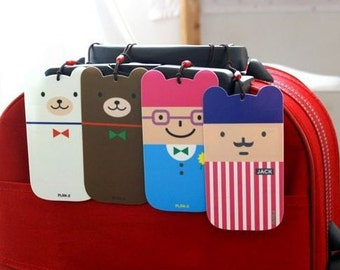 Luggage tags - 4 cartoon caracters