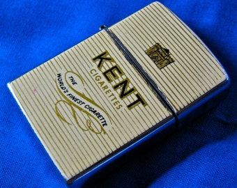 Vintage Kent / Hadson Cigarette Lighter / Flip Top Advertisement