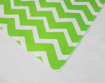 Bright Green Chevron Waterproof Changing Pad - small