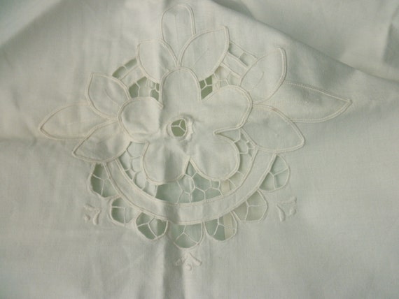 Large Shabby Chic Pillows : Large Shabby Chic cotton PILLOW SHAM white antique