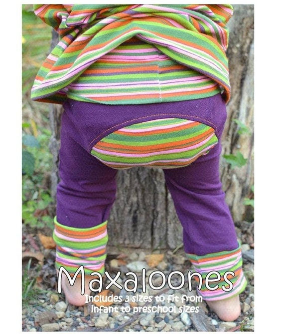 Maxaloones sewing PDF pants pattern NB-5T pants New size added!