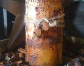 Candle - Pillar - Grungy - Primitive - Rustic - Only 18.99