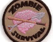 Zombie Survival Geek Merit Badge Patch