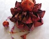 Magician's Kaleidoscope Dice Tophat Flower Clip