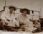 Vintage / Antique Photo - Two Women on the Beach