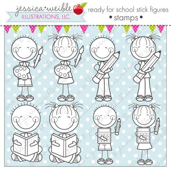 Cute Stick Figures Ready For School Stick...