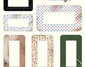 Designers Name Tag Label Stickers 12 EA - Vintage (6.7 x 6.7in)