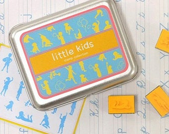 16 Set - Diy Stamps Kit Series Little Kids (4.3 x 3.3in)