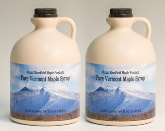 1 Gallon - 100% Pure Vermont Maple Syrup (Any Grade)