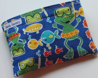 Reusable Snack Bag Eco Friendly Green Froggy