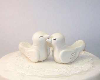 Romantic Love Bird Wedding Cake Topper Birds - Elegant Wedding Decor - Custom Choice of Colors