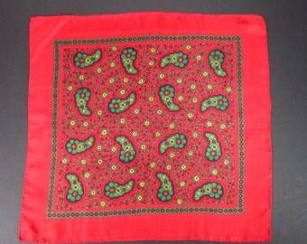 Vintage Handkerchief Deep Red (vh51)