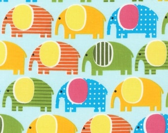 Elephants in Spring, Urban Zoologie by Anne Kelle, Robert Kaufman Fabrics, 1 Yard Total