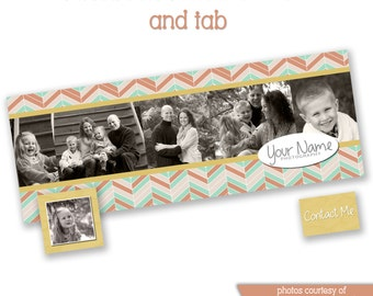 INSTANT DOWNLOAD - Facebook timeline cover photoshop template and coordinating profile thumbnail - 0849