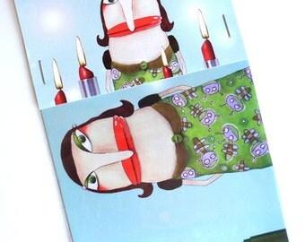 Set of 5 Advent Magnet auntie Bartsch