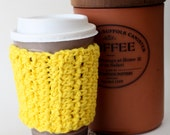 Crocheted Coffee Cozy - Custom Options Available