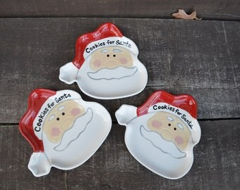 Cookies for Santa Ceramic Christmas Dish - Perfect for Christmas Eve