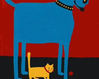 Cards Rescued is My Favorite Breed or art print copyright Hillary Vermont
