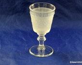 RARE Original EAPG Wine Goblet Westward Ho by Gillinder & Sons C. 1879