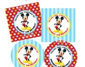 PRINTABLE Modern Mickey Mouse Favor Tags or Stickers - DIY