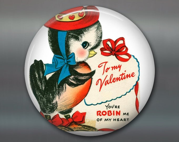 "3.5"" vintage valentine magnet valentine fridge magnet kitchen decor large magnet school valentine card MA-1352"