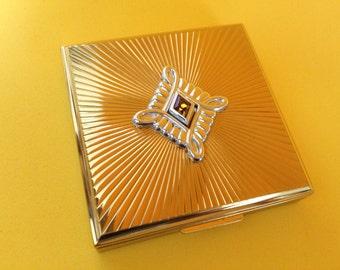 Vintage Art Deco Evans Jeweled Powder Compact