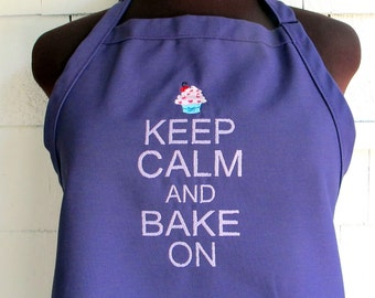 Keep Calm And Bake On Apron - Cupcake Baking Apron
