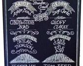Chalkboard Art Sign for your Wedding or Event Unframed 24 x 39 Program