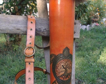 Tooled Archery Quiver Celtic Turtle And A Tree Of Life