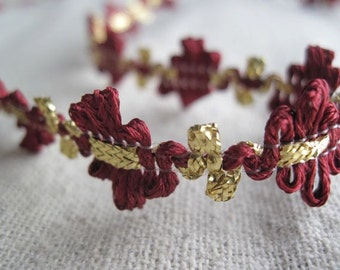 GOLD and CRANBERRY flower trim