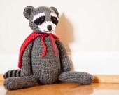 Rascal - Hand-Knit Super Hero Raccoon