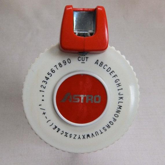 Vintage 1970s Red Astro Label Maker Machine Hand Held
