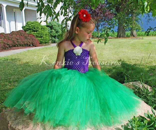 Little Mermaid Blue Dress Costume Little Mermaid Tutu Dress With