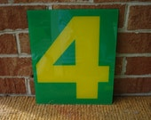 Vintage Green and Yellow Gas Station Number 4