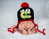 Crochet Chicago Blackhawks Hat