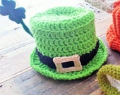 Crochet PATTERN - St Paddy's Day Top Hat - St Patricks Day Hat - Instant download