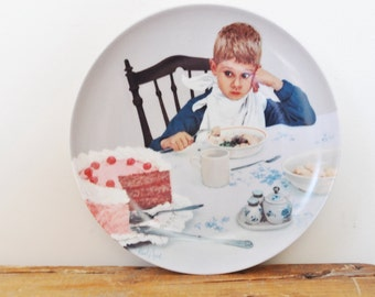 Kurt Ard Collectors Plate 1985 First Things First Home Decor Display Numbered Ikke Lutter Lagkage