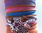 RESERVED for Jenna -- Spirit Fox Asian Silk Wrap Bracelet