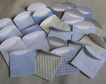 "25 Mini Envelopes - Recycled Security Envelopes - Recycled Mini Envelopes - Tiny Envelopes - 1 7/8"" x 2"""