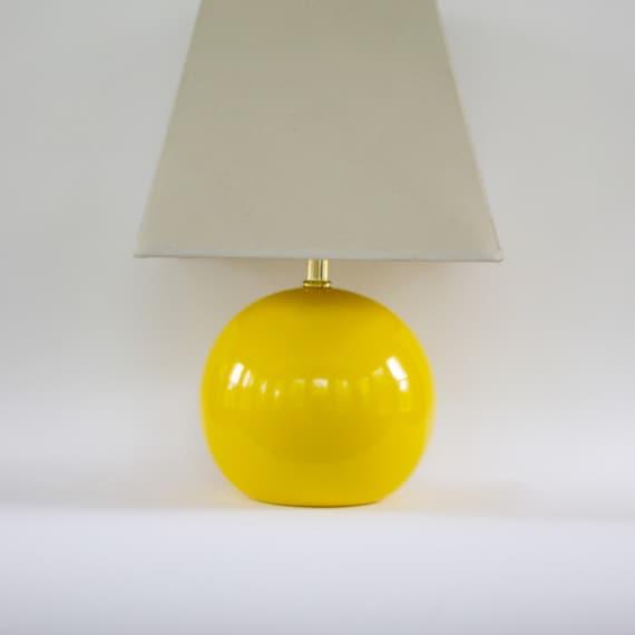 Vintage Modern Yellow Lamp Vintage Table Lamp Pantone Freesia