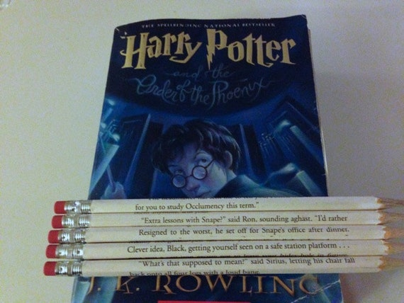Harry Potter 5 Wrapped Pencil Set