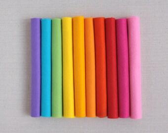 Wool Felt // Electric Company // Neon Colors, Bright Colors, Merino Felt Sheets, Merino Felt, Summer Color Palette, Wool Rainbow Palette