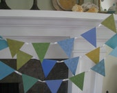 Random Blue and Green Banner   Garland /  Brithday / Child room