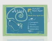 Aries March Greeting Card
