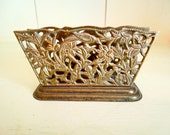 Vintage Brass Letter or Napkin Holder