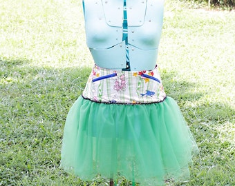 Ladies Under the Sea  Corset Tutu with Pockets  -  Size SM - FREE US Shipping