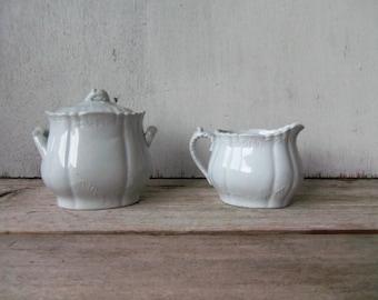Vintage China Creamer & Sugar Set