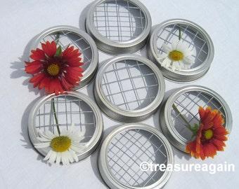 7 Mason Jar Flower Lid Frogs for Do It Yourself Weddings