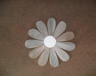 Large Grey Rustic Flower